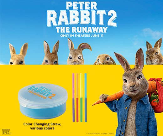 Peter Rabbit: The Runaway - Color Changing Straw