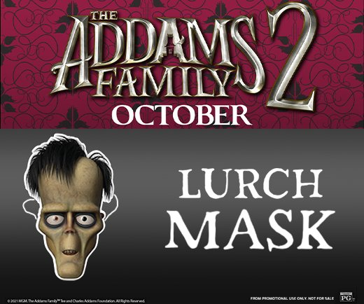 The Addams Family 2- Lurch Mask