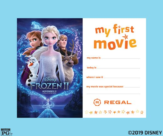 Frozen 2 - My First Movie Certificate